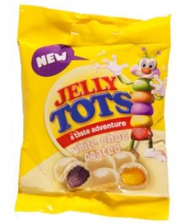 Beacon Jelly Tots White chocolate coated