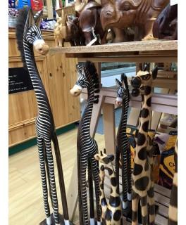 Wooden carved Zebras